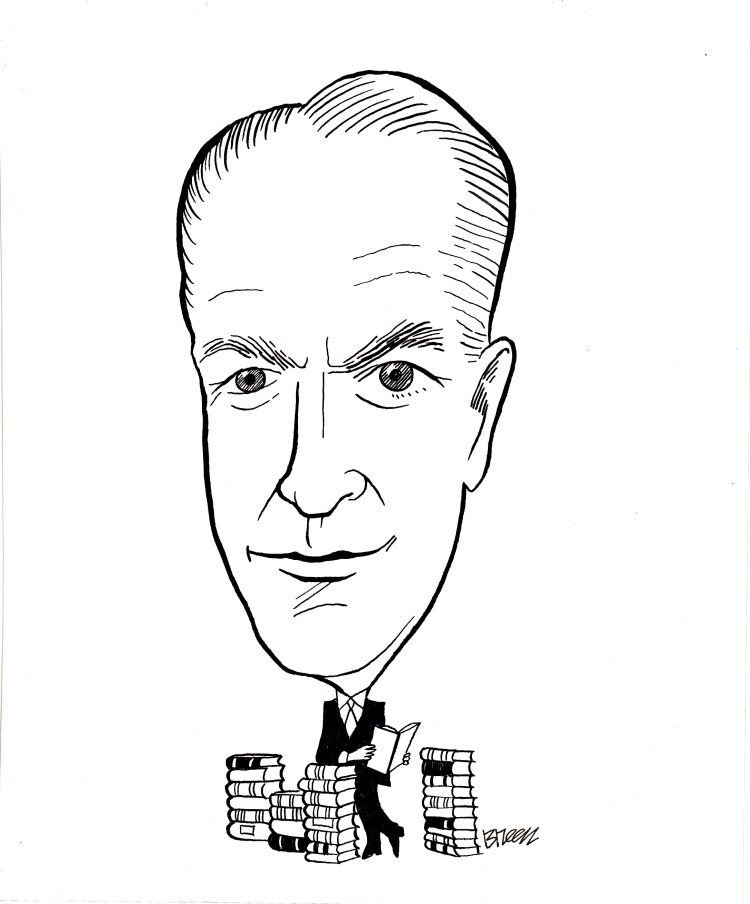 Deal Hudson, a caricature for 20th Crisis Magazine's Anniversary Issue