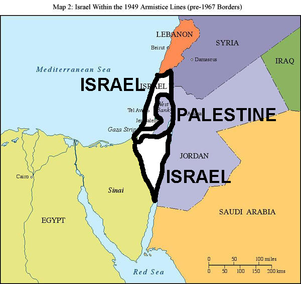 Image result for israel two state solution map