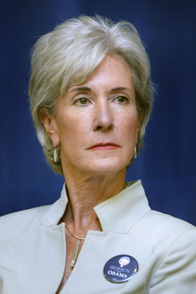"WARREN, MI - AUGUST 19:  Kansas Governor Kathleen Sebelius attends a ""Women For Obama"" town hall meeting at the Macomb County Community College August 19, 2008 in Warren, Michigan. Sebelius has been mentioned as a potential vice presidential running mate for the presumptive Democratic presidential nominee Senator Barack Obama.  (Photo by Bill Pugliano/Getty Images)"